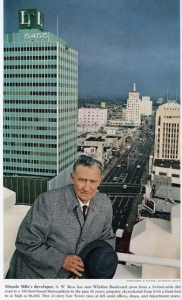 Photograph of A. W. Ross from National Geographic Magazine, circa 1960. Alvan Warren Ross (1878-1967) was the founder of the Miracle Mile.