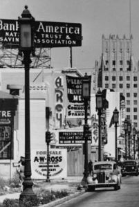 Another view of the El Rey Theatre, circa 1937.