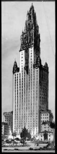 "Photograph of an architect's drawing of a forty-story hotel to be built in Hancock Park district, Los Angeles. An Examiner clipping with no text attached to verso, dated, ""November 29, 1929""; ""Architect's sketch of forty-story hotel to be built in Hancock Park district by A.W. Ross"" -- Examiner clipping attached to verso, dated, ""December 21, 1929"". Additional information: this is a drawing of a design by the architect Kenneth MacDonald, Jr., for a hotel that the real estate developers of Miracle Mile, Charles E. Cooper and A. W. Ross, wanted to build on Wilshire Boulevard near Ogden Drive. Because Miracle Mile lay outside the city boundaries, the building would not have been subjected to the limit height ordinance. But it was never built. See ""skyscraper hotel sketched"" LAT, August 16, 1929. (Caption and image courtesy of USC Digital Library.)"