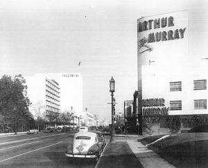 Arthur Murray Studio, at Wilshire and Stanley, circa 1950.