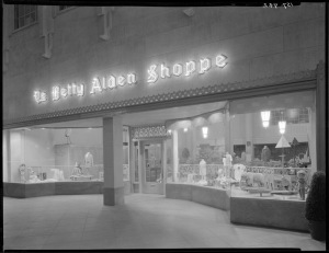 Betty Alden Shoppe, Wilshire Tower, circa 1930. (California State Library)