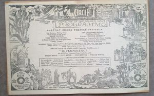 Carthay Circle Theatre program, 1928, with advertisements for the White Spot restaurant (lower left and right).