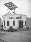 Chili Bowl restaurant, circa 1937, located at 801 N. La Brea Avenue. (Herman Schultheis Collection, Los Angeles Public Library.)