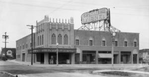 "Architect Richard D. King designed the building for A.C. Blumenthal. It opened in 1926 as Chotiner's La Brea. Fox Theatres was a later lessee, calling it the Fox La Brea. The La Brea closed around 1955.  In 1960 Robert Kronerberg of Manhattan Films and Dan Sonney of Sonney Amusement Enterprises rescued the boarded up theatre and did a full remodel including redecorating, new screen and drapes, new seats and new booth gear. They called it the Art La Brea and reopened with Ingmar Bergman's ""Brink of Life.""In the late 60s it became the Toho La Brea Theatre, running Japanese films. The Toho management lasted at least until 1974. It is now a Korean church – see following photos. (USC Digital Library)"