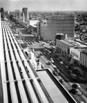 View of Wilshire Boulevard looking east from Prudential Square (now Musem Square) at Curson and Wilshire, circa 1950. (Courtesy of the Security Pacific National Bank Collection, Los Angeles Public Library.)