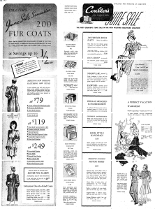 Coulter's advertisement, circa 1939.