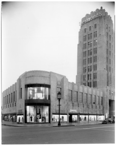 Desmond's building, circa 1930s. (Mott-Merge Collection; California State Library.)
