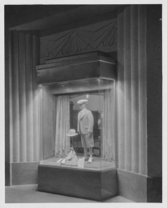 Display window, Wilshire Tower lobby, circa 1930. (Mott-Merge Collection; California State Library)