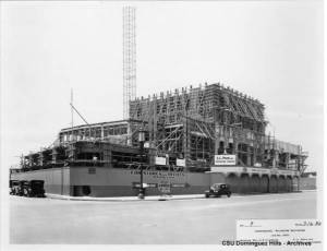 The Dominguez-Wilshire building under construction, 1930. (CSUDH Digital Collections)