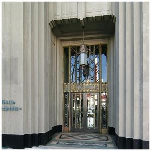 Contemporary photograph (circa 2005) of the Wilshire Bouevard entrance of the Dominguez Wilshire Building. (wikimapia.org)