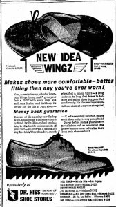 Dr. Hiss Shoe Stores ad, Long Beach Independent, June 30, 1960. In 1958 the Dominguez Wilshire building was purchased by Doctor Hiss, a foot doctor, and renamed the Hiss Tower.