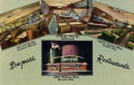 This circa 1950s placemat shows the original signage on the Miracle Mile location of the venerable restaurant chain. The Farmers Market location is still in operation.