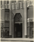 E. Clem Wilson building entrance, 5217 Wilshire Boulevard,  circa 1930. (Mott-Merge Collection; California State Library.)