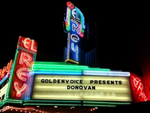 Contemporay view of El Rey marquis. The El Rey is owned and managed by Golden Voice, a division of AEG Live.