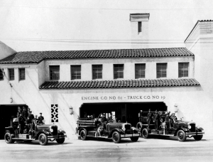 Fire Station No. 61; photograph dated 1931. (Steve Clapper; Los Angeles Fire Department Historical Archives)