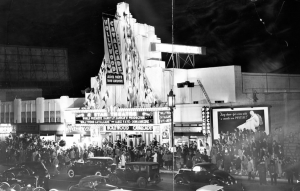 "Premiere of ""Hollywood Calvacade"" in 1939 at the 4 Star Theatre."