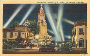 Fox Carthay Circle Theatre postcard, circa 1943.