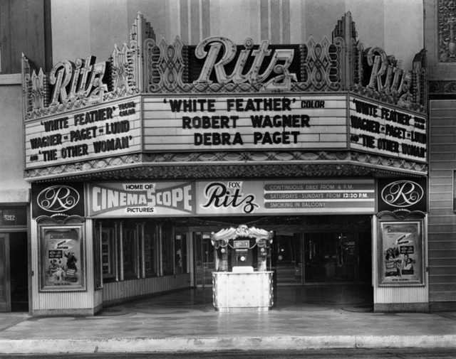 fox ritz theatre circa 1955 miracle mile residential