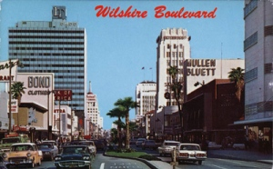 Looking West along Wilshire Blvd. Source: YesterdayLA.com.
