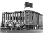 The Western Auto Parts store at the northwest corner of Wilshire and Hauser, circa 1930s. Designed by Carl Lindbom and completed in 1931, it is the current location of a IHOP restaurant.