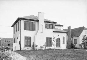 "House at 832 Masselin Avenue, 1925. This home still exists at this location. [""Dick"" Whittington Photography Collection; USC Digital Library]"