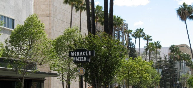 Miracle Mile, Western Entrance at Fairfax and Wilshire, LACMA