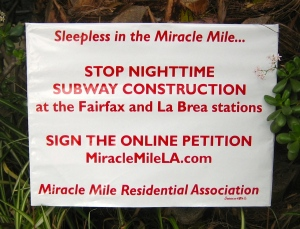 Subway Petition Lawn Sign