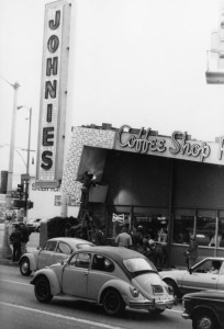 Johnie's Coffee Shop, circa 1980s. (Gary Leonard Collection; Los Angeles Public Library)