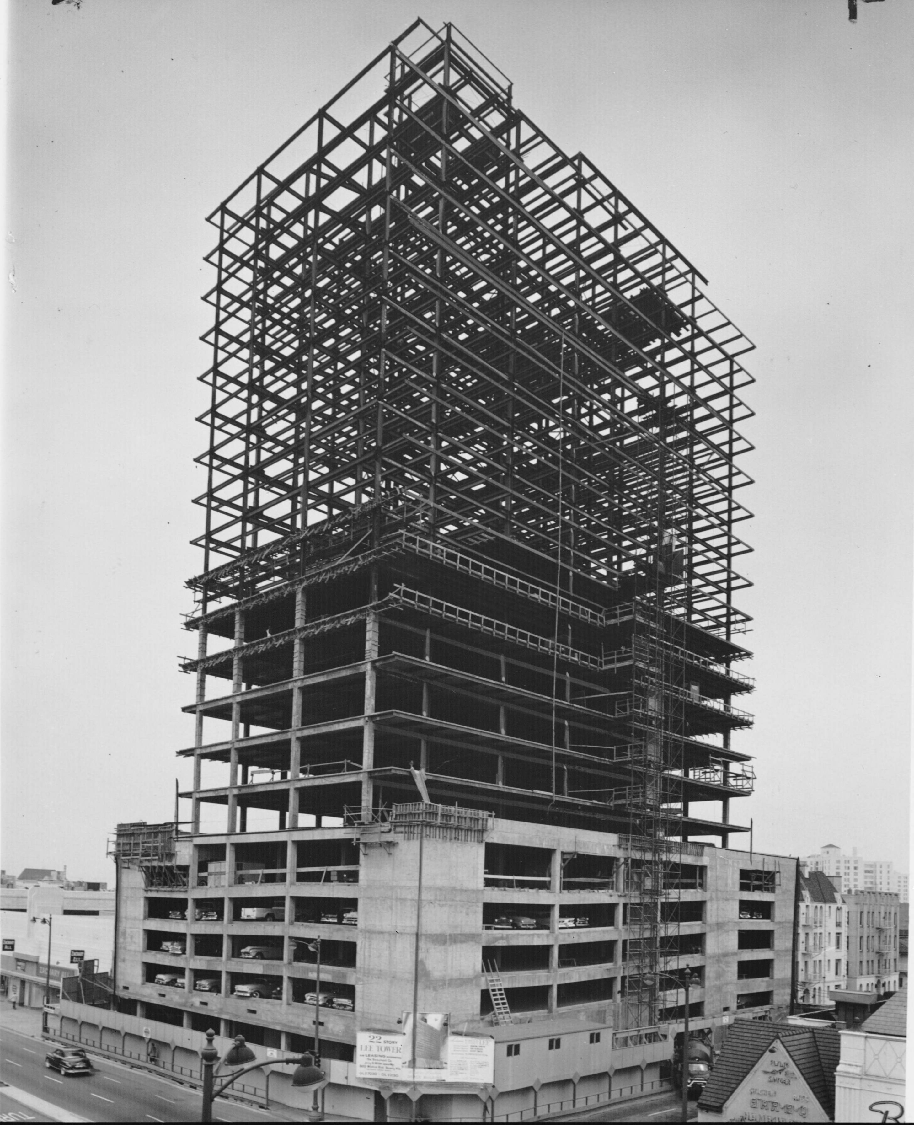 Building Under Construction : Lee tower under construction miracle mile