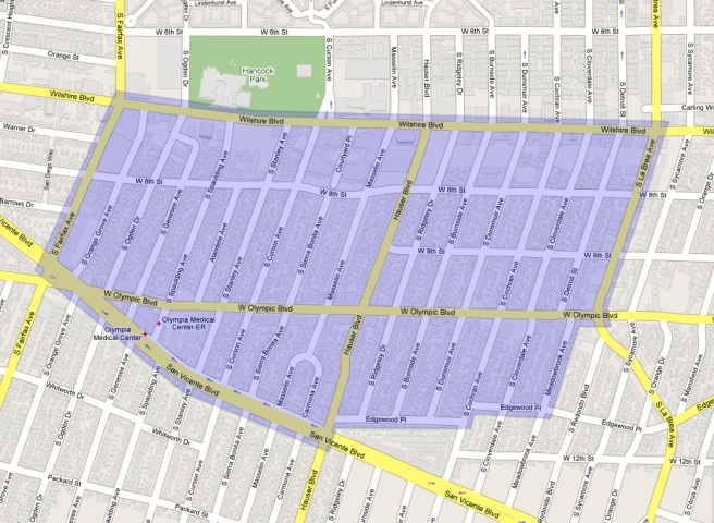 Boundaries for the Miracle Mile Residential Association
