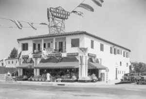 "Monterey Market on West Olympic Boulevard near South Fairfax Avenue, 1933. (""Dick"" Whittington Photography Collection; USC Digital Library)"