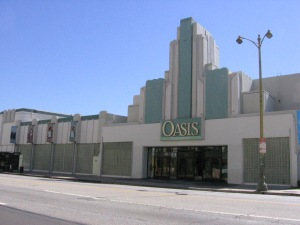 Oasis Christian Center, circa 2010. The church acquired the former 4 Star Theatre in 2001. The theatre was demolished in December 2014 and will be replaced by a 6 story apartment and retail complex called The Mansfield.