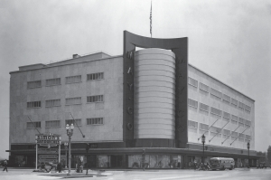 The original May Company building in 1941. In 1946 the building was expanded on its northern side.