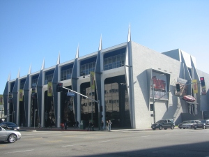 This is the original design of the Petersen Museum after it intially re-adapted the former Orbach's department store. Photograph circa 2010