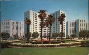 Park La Brea Towers postcard (front), 1958