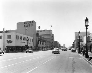 Phelp-Terkel and Mullen-Bluett stores, circa 1953.
