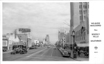 Postcard looking east along Wilshire Boulevard, 1947. (Pomona Public Library.)