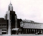 Slapsy Maxie's nightclub as it originally looked when it first opened at the former location of the Wilshire Bowl, circa 1943. (Los Angeles Public Library.)