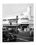 The Sontag Drug Store, located at the northwest corner of Wilshire Boulevard and Cloverdale Avenue, 1941. It was designed by Anderson and Norstrom in the Art Deco style and completed in 1935. (Photographer: Richard Stagg; USC Digital Library.)