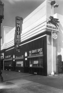 The White Spot Restaurant, circa 1940s. (Security Pacific National Bank Collection; Los Angeles Public Library)