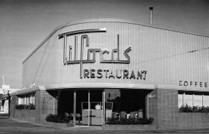Tilford's restaurant and cocktail lounge, located at the northwest corner of La Brea Avenue and Wilshire Boulevard,  was designed by Los Angeles architect Welton Becket and opened in 1949.  Welton Becket is best known for designing the LAX Theme Restaurant, the Capitol Records Building, Parker Center and other notable Los Angeles landmarks. The property was acquired by Metro in 1984 and will be the location of the La Brea/Wilshire portal of the Purple Line subway extension.