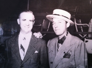 Tom Bergin with Bing Crosby at Del Mar Race Track, 1937. (Tom Bergin's)