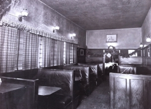 Tom Bergin's booths leading to dining room area, circa 1949. (Tom Bergin's)