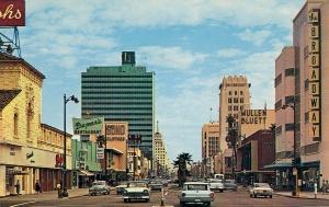 Wilshire Boulevard postcard, circa 1964.