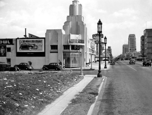 Wilshire Bowl at 5665 Wilshire (at Masselin), circa 1938.