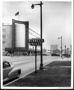 Another view of the May Company at Wilshire and Fairfax, circa 1950s. (Dick Whittington Studios; USC Digital Library)