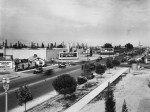 Wilshire Boulevard at Stanley Avenue, circa 1929. Looking east along Wilshire. (USC Digital Library.)