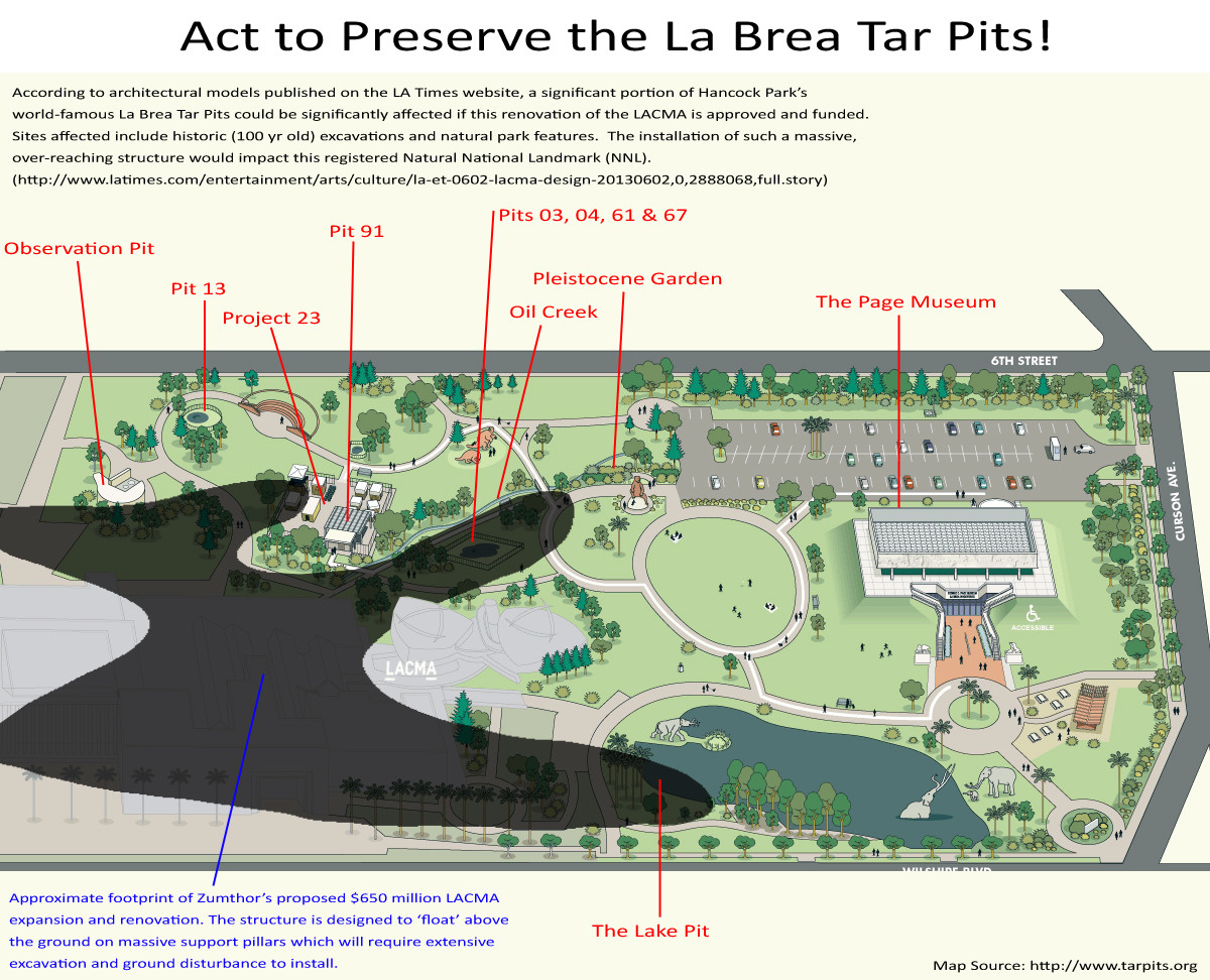 Tar pits threatened by lacma expansion mmra approves motion to lacma tar pits overlay publicscrutiny Image collections
