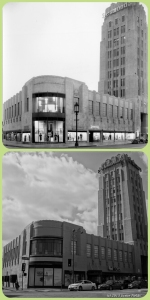 Desmond's Building, circa 1937 & 2013. Top photo: Desmond's building, circa 1937. (Top: Mott-Merge Collection; California State Library – Bottom: Justin Fields)