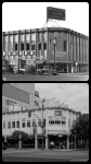 Best Western Auto Supplies, circa 1931/IHOP, 2013. Top photo: The Western Auto Parts store at the northwest corner of Wilshire and Hauser, circa 1931. Designed by Carl Lindbom and completed in 1931, it is the current location of a IHOP restaurant.